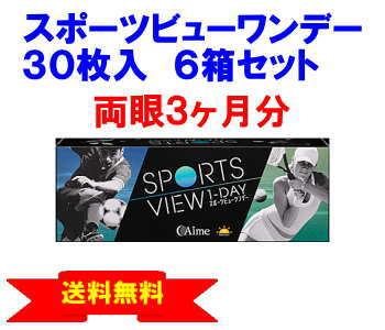 スポーツビューワンデー6箱セット