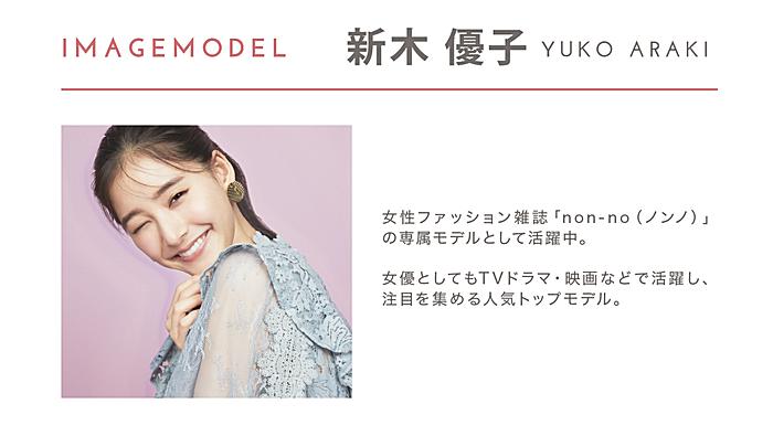 アイジェニックのイメージモデル新木優子